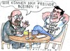 Cartoon: Freunde (small) by Jan Tomaschoff tagged griechenland,eu,schulden