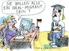 Cartoon: Idealmigrant (small) by Jan Tomaschoff tagged migration,asyl,fachkräfte