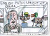 Cartoon: lahme Enten (small) by Jan Tomaschoff tagged putin,obama,diplomatie