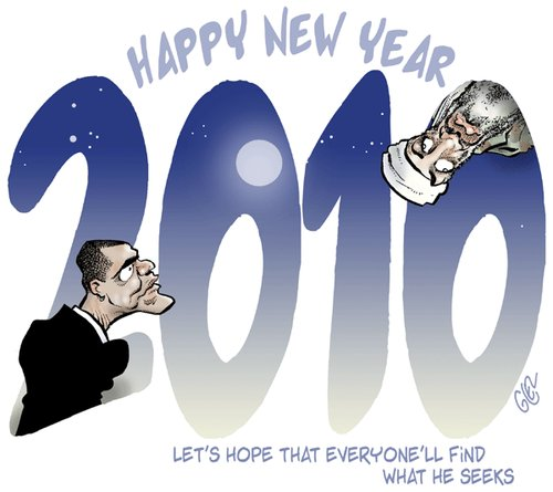Cartoon: 2010 (medium) by Damien Glez tagged 2010,new,year