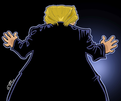 Cartoon: Donald Trump (medium) by Damien Glez tagged donald,trump,politician,politics,united,states,america,president,donald,trump,politician,politics,united,states,america,president