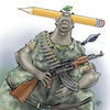 Cartoon: Cartoon and army (small) by Damien Glez tagged cartoon,army,military,coup