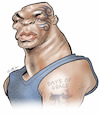 Cartoon: Mike Tyson (small) by Damien Glez tagged mike,tyson,boxer