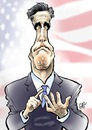 Cartoon: Mitt Romney (small) by Damien Glez tagged mitt,romney,usa,republican,candidate