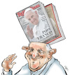 Cartoon: Pope Francis (small) by Damien Glez tagged pope,francis,vatican,francois