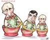 Cartoon: Putins Cycle (small) by Damien Glez tagged putin,russia