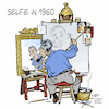Cartoon: Rockwells selfie (small) by Damien Glez tagged norman,rockwell,selfie,smartphone