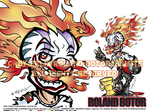 Cartoon: Cartoon Avatar Roland Botor (medium) by FeliXfromAC tagged felix,alias,reinhard,horst,design,line,aachen,illustration,illustrator,comic,zeichner,comiczeichner,sympathie,figuren,mascot,cartoon,character,humor,horror,clown,rennfahrer,rbert,botor