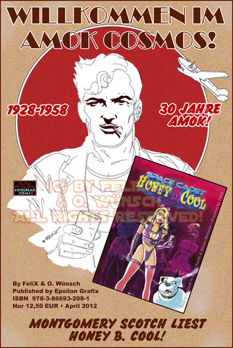 Cartoon: Honey B. Cool Promo Design (medium) by FeliXfromAC tagged felix,alias,reinhard,horst,design,line,aachen,illustration,erotic,honey,cool,sexy,comic,preview,album,epsilon,designer,nrw,space,cadet,sf,science,fictionfelixfromac,pin,uperotik