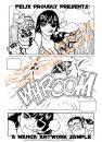 Cartoon: Manga Tryout Page (small) by FeliXfromAC tagged manga,gun,crazy,action,frau,girl,cat,katze,woman,felix,alias,reinhard,horst,bikini,design,line,aachen,comic,comix
