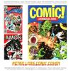 Cartoon: Retro Comic Covers (small) by FeliXfromAC tagged retro design woman frau comic cover poster monster girl cartoon amok action fantasy young guns marvel look 70s 50s stockart