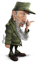 Cartoon: Fidel Castro (small) by Tiaggo Gomes tagged fidel castro caricature tiaggo