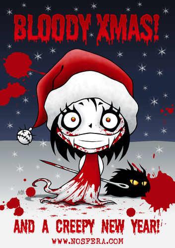 Cartoon: Bloody Xmas (medium) by volkertoons tagged volkertoons,nosfera,vampir,vampire,vicious,vampiress,böse,vampöse,bad,evil,süß,sweet,cute,nadel,needle,mädchen,girl,winter,schnee,snow,blut,blood,snowblood,nacht,night,goth,gothic,weihnachten,christmas,xmas,silvester,sylvester,neujahr,neues,jahr,new,year,anniversary,tier,animal,creep,creepy,horror,humor,lustig,fun,funny