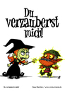 Cartoon: Du verzauberst mich! (small) by volkertoons tagged volkertoons,cartoon,comic,karte,grußkarte,greeting,card,hexe,witch,gnom,goblin,zauberei,sorcery,hexerei,witchcraft,verzaubern,bewitch,lustig,spaß,humor,fun,funny