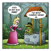 Cartoon: Prinz (small) by volkertoons tagged volkertoons,cartoon,märchen,fairy,tale,prinz,prince,prinzessin,princess,frosch,frog,froschkönig,lustig,albern,kalauer