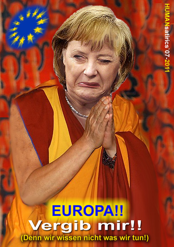 Cartoon: Europa vergib!! (medium) by cartoonist_egon tagged europa,merkel,beten,vergebung