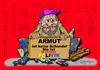 Cartoon: ARMUT ala GERMANY (small) by cartoonist_egon tagged hartz,iv,sgb,ii,niedriglohn,arge