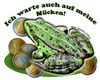 Cartoon: Auf Mücken warten... (small) by cartoonist_egon tagged frog frosch kröte money moneten pinke
