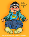 Cartoon: Mein kleiner Enkelsohn (small) by cartoonist_egon tagged ryan,enkel,kind