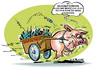 Cartoon: SAUmäßiger BlitzTransport (small) by cartoonist_egon tagged sau,schweine,grippe