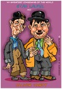 Cartoon: Stan Laurel und Oliver Hardy (small) by cartoonist_egon tagged dick,und,doof,stan,olli