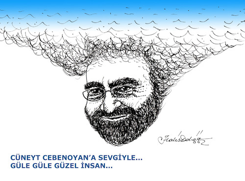 Cartoon: Cuneyt Cebenoyan (medium) by halisdokgoz tagged turkish,journalist,writer,cuneyt,cebenoyan