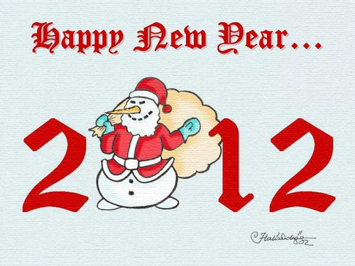 Cartoon: Happy new year (medium) by halisdokgoz tagged happy,new,year,halis,dokgoz