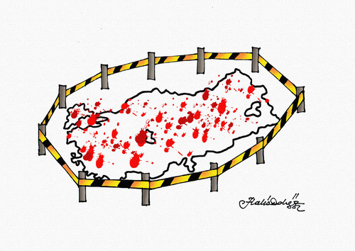 Cartoon: istanbul attack terror (medium) by halisdokgoz tagged istanbul,attack,terror