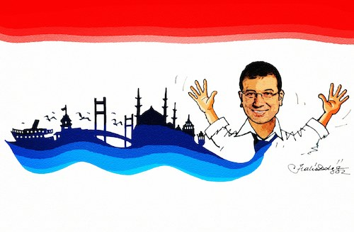Cartoon: Mayor of Istanbul Ekrem Imamoglu (medium) by halisdokgoz tagged mayor,of,istanbul,ekrem,imamoglu