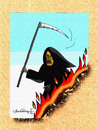 Cartoon: Angel of Death (small) by halisdokgoz tagged angel,of,death
