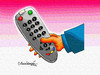 Cartoon: TV remote (small) by halisdokgoz tagged tv,remote