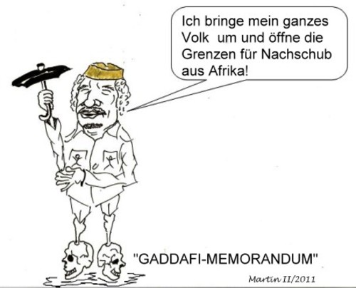 Cartoon: Gaddafi (medium) by quadenulle tagged cartoon