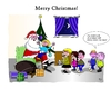 Cartoon: Merry Christmas (small) by Tricomix tagged christmas,santa,claus,gifts,children,fir,surprise