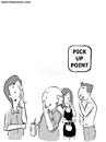 Cartoon: Pick Up Point (small) by Ahmedfani tagged pick,nose