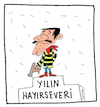 Cartoon: Auszeichnung (small) by Hayati tagged engagement,presse,daltons,sozial,tuerkei,hayati,boyacioglu,berlin