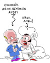 Cartoon: Besitz (small) by Hayati tagged ehe,frau,mann,adam,eva,hayati,boyacioglu,berlin