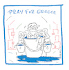 Cartoon: Pray for Greece (small) by Hayati tagged griechenland,greece,yunanistan,grieche,brandkadastrophe,waldbrand,ormanyangini,yangin,hitze,solidaritaet,cartoon,karikatur,hayati,boyacioglu,berlin