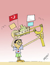 Cartoon: SOLUTION (small) by Hayati tagged israel,türkei,kinder,krieg,palastina,filistin,mavi,marmara,politik,play,children,schiff,krise,war,hayati,boyacioglu