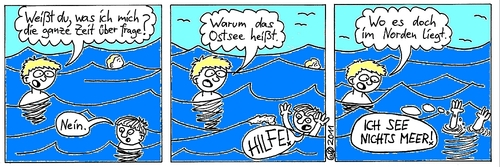 Cartoon: Ostseewellen (medium) by weltalf tagged ostsee,meer,wellen,ostseewellenlied