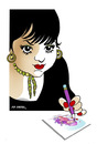 Cartoon: -HANDE DILEK AKCAM- PORTRAIT (small) by donquichotte tagged hda