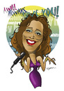 Cartoon: GOOD BYE WHITNEY!! (small) by donquichotte tagged whtny