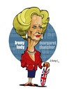 Cartoon: IRON-Y LADY (small) by donquichotte tagged thtchr
