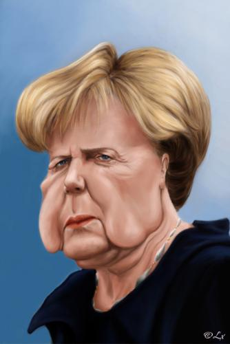 Cartoon: Angela Merkel (medium) by lexluther tagged merkel,angela,deutschland,bundesrepublik,bundeskanzler,bundeskanzlerin