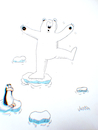 Cartoon: High temperature (small) by claude292 tagged bear,polar,sea