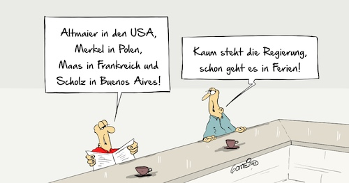 Cartoon: Ferien (medium) by Marcus Gottfried tagged altmaier,usa,reise,antrittsbesuch,merkel,polen,mara,frankreich,scholz,buenos,aires,flug,treffen,marcus,gottfried,cartoon,karikatur,altmaier,usa,reise,antrittsbesuch,merkel,polen,mara,frankreich,scholz,buenos,aires,flug,treffen,marcus,gottfried,cartoon,karikatur