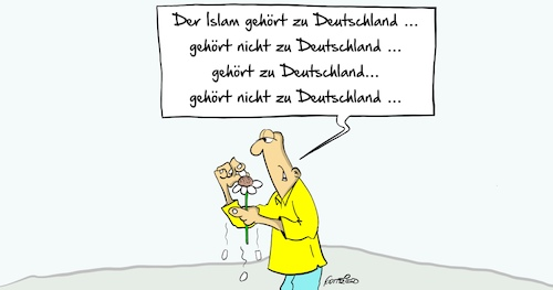 Cartoon: Islam (medium) by Marcus Gottfried tagged meinungswechsel,meinung,seehofer,innenminister,islam,deutschland,dazu,gehören,marcus,gottfried,cartoon,kariktur,meinungswechsel,meinung,seehofer,innenminister,islam,deutschland,dazu,gehören,marcus,gottfried,cartoon,kariktur
