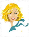 Cartoon: Charlize Theron (small) by Nicoleta Ionescu tagged charlize theron