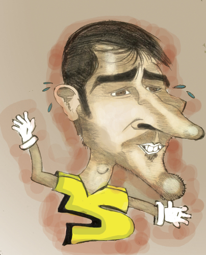 Cartoon: Casillas (medium) by Majid Atta tagged majid,atta