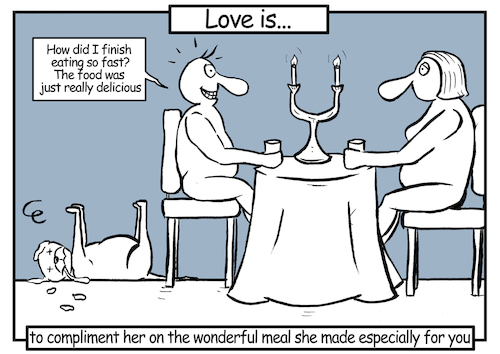 Cartoon: Love is... 2 (medium) by matan_kohn tagged love,relationship,funny,dog,dogs,men,women,talk,loveis,caricature,com,loving,cool
