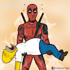 Cartoon: Deadpool and Homer simpson (small) by matan_kohn tagged caricature comics deadpool funny homersimpson marvel movie simpson thesimpsons deadpoolmarvel